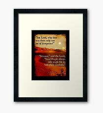 Footprints in the Sand People Framed Print