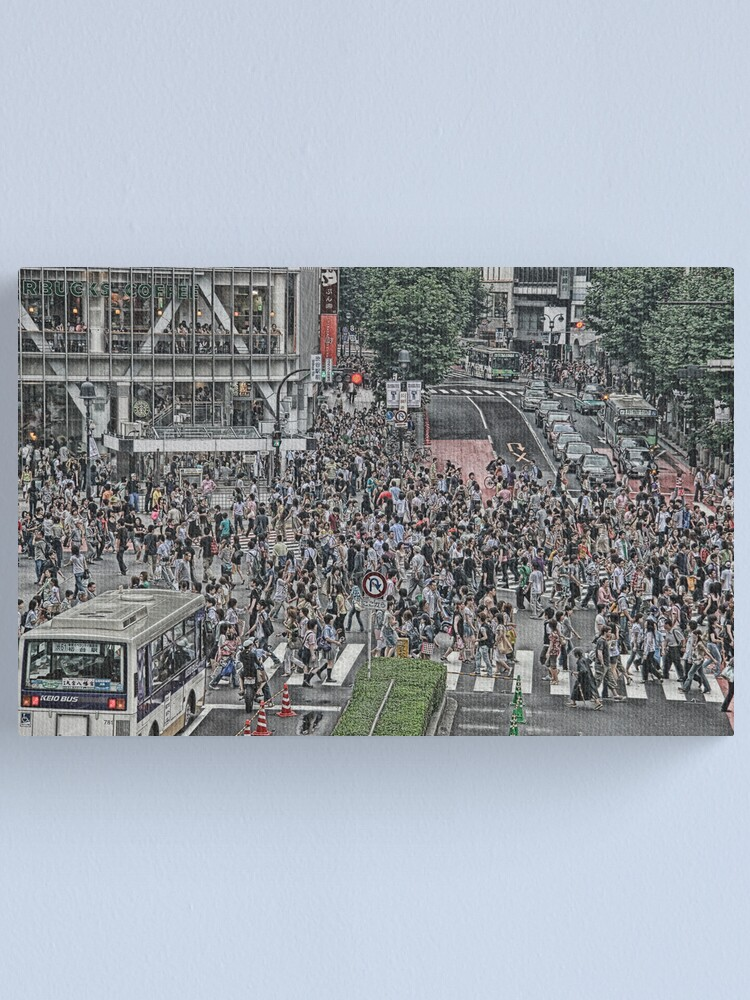 Alternate view of Shibuya Shuffle Canvas Print