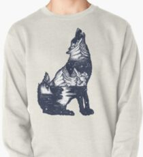 Wolf double exposure Pullover
