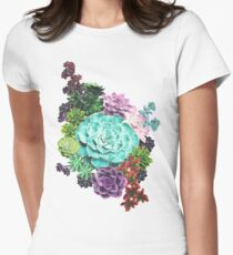 Succulent Women's Fitted T-Shirt