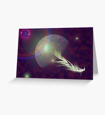 feather in space Greeting Card