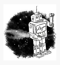 Robot in space. Photographic Print