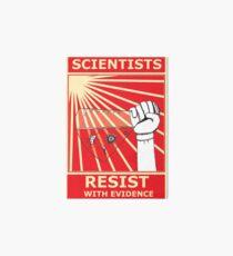 Scientists Resist Flask Art Board Print