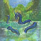 Unicorn Sea Dragon with Frills in Mountain Lake by Stephanie Small
