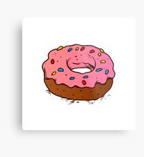 Donut with coloured sprinkles. Metal Print