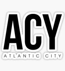 ACY - Atlantic City Airport Code Sticker