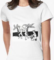 African Dance Women's Fitted T-Shirt