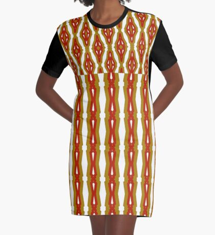 Golden Year Cheer Graphic T-Shirt Dress