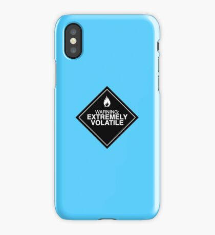 Extremely Volatile warning sign iPhone Case