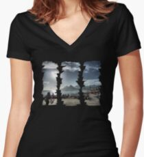 Ipanema Beach: 3 Strokes Women's Fitted V-Neck T-Shirt