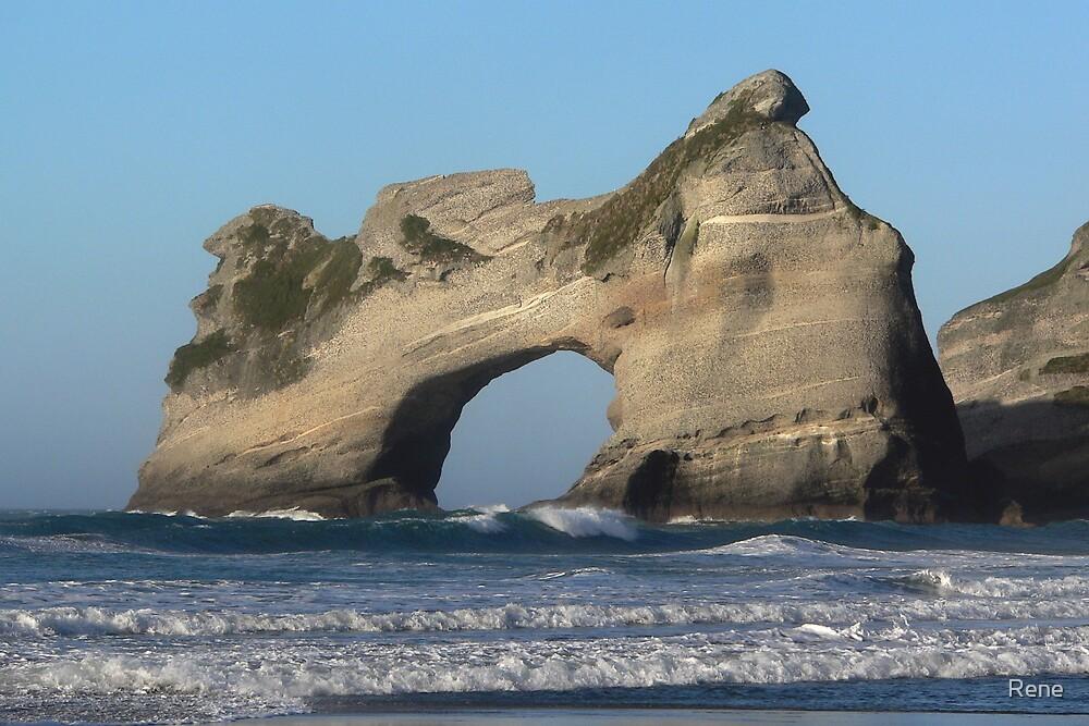 Wharariki Arches by Rene