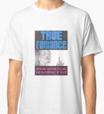Camiseta clásica VERDADERO ROMANCE Cartel de cine dibujado a mano con lapiz