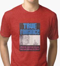 TRUE ROMANCE hand drawn movie poster in pencil Tri-blend T-Shirt