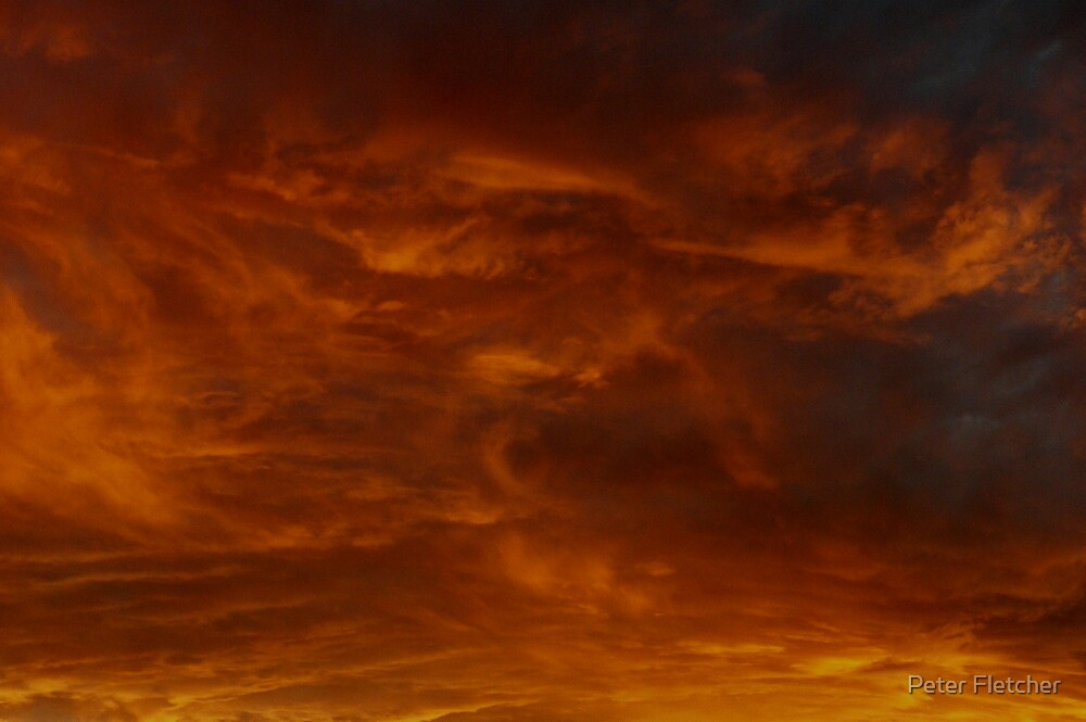 Clouds at sunset by Peter Fletcher