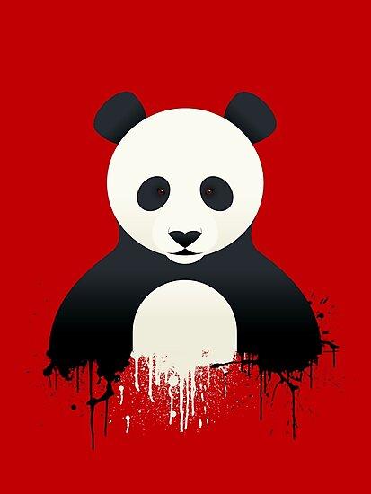 Panda Graffiti red by Mark Walker
