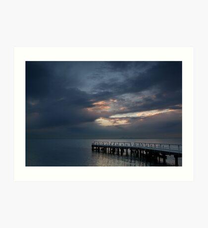 Light on Corio Bay,Portarlington Art Print