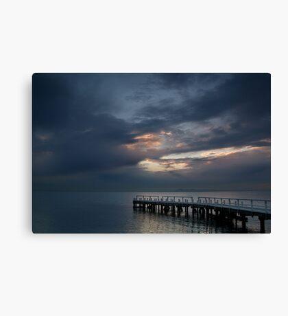 Light on Corio Bay,Portarlington Canvas Print