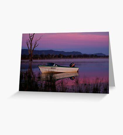 Mauve Tones, Lake Fyans Greeting Card