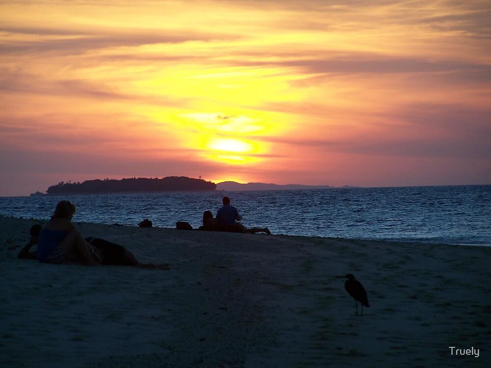 Sunset Beach by Truely