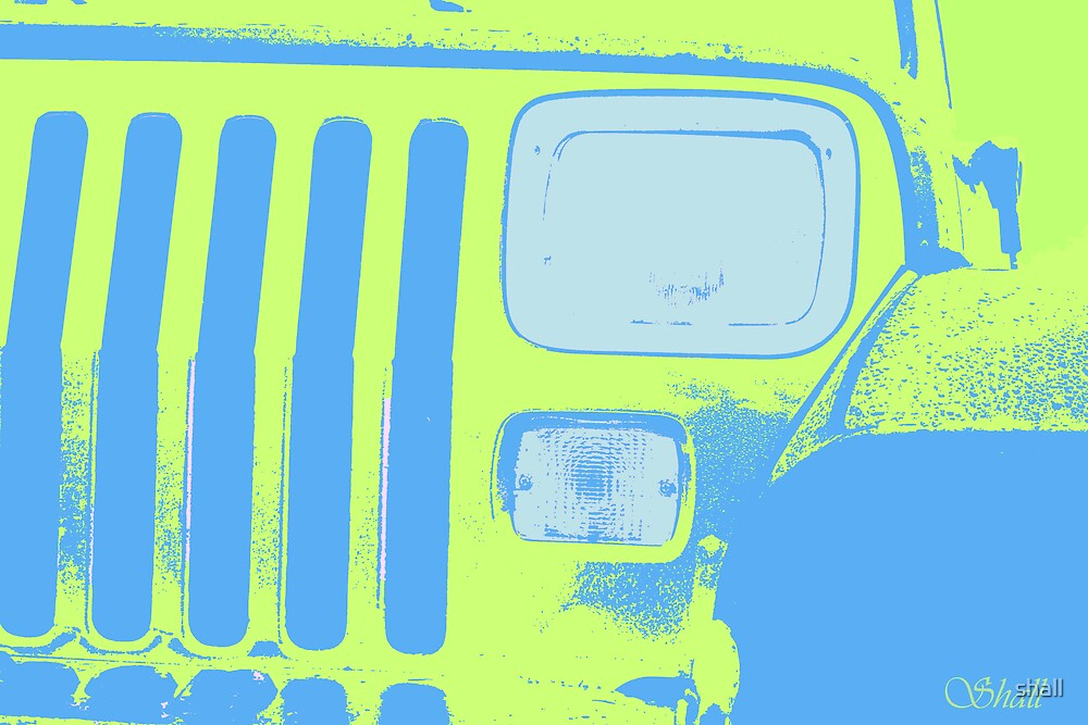 Yellow Jeep by shall