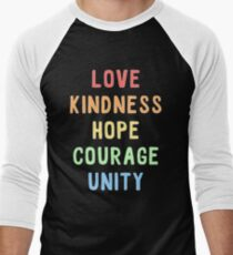 Rainbow - love kindness hope courage unity T-Shirt