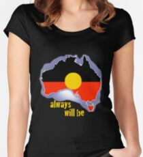 Immer war, wird immer sein, Aborigines-Land Tailliertes Rundhals-Shirt
