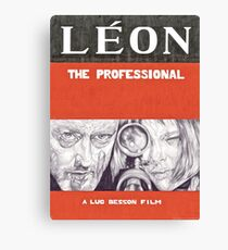 LEON hand drawn movie poster in pencil Canvas Print