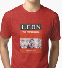 LEON hand drawn movie poster in pencil Tri-blend T-Shirt