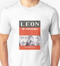 LEON hand drawn movie poster in pencil T-Shirt