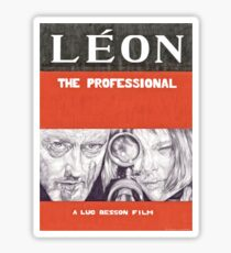LEON hand drawn movie poster in pencil Sticker