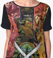 Teenage Mutant Ninja Turtle Cast  Women's Chiffon Top