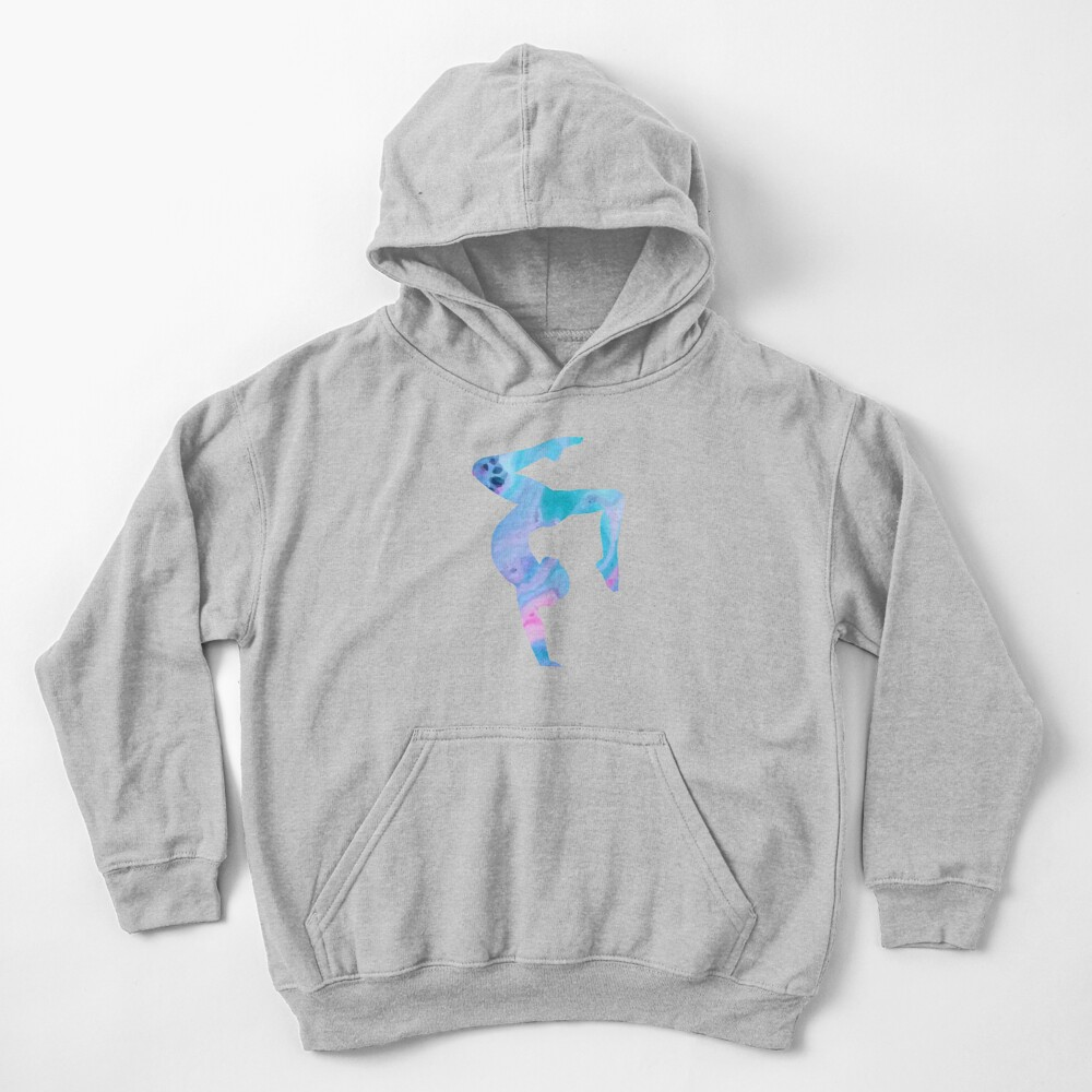 Stag Handstand - Rainbow  Kids Pullover Hoodie