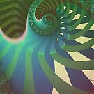 "Fractal: ""Spiralgreen"" by Freda Surgenor"