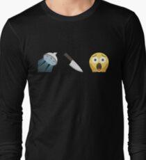Psycho Emoji Graphic Long Sleeve T-Shirt