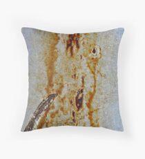 texture_2. dirt. rust Throw Pillow
