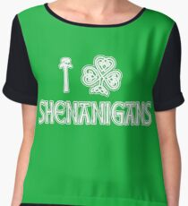Irish, St Patricks Day, Irish Shirt, St Patricks Day Shirt Chiffon Top
