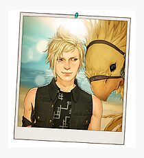 Prompto and his Chocobo Photographic Print