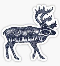 Reindeer double exposure Sticker