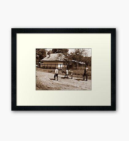 MILK MAN Framed Print
