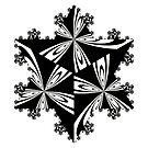 Koch Curve Snowflake pattern by Rupert Russell