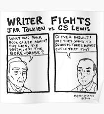 Writer Fights - Tolkien vs. Lewis Poster