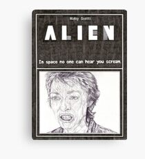 ALIEN hand drawn movie poster in pencil Canvas Print