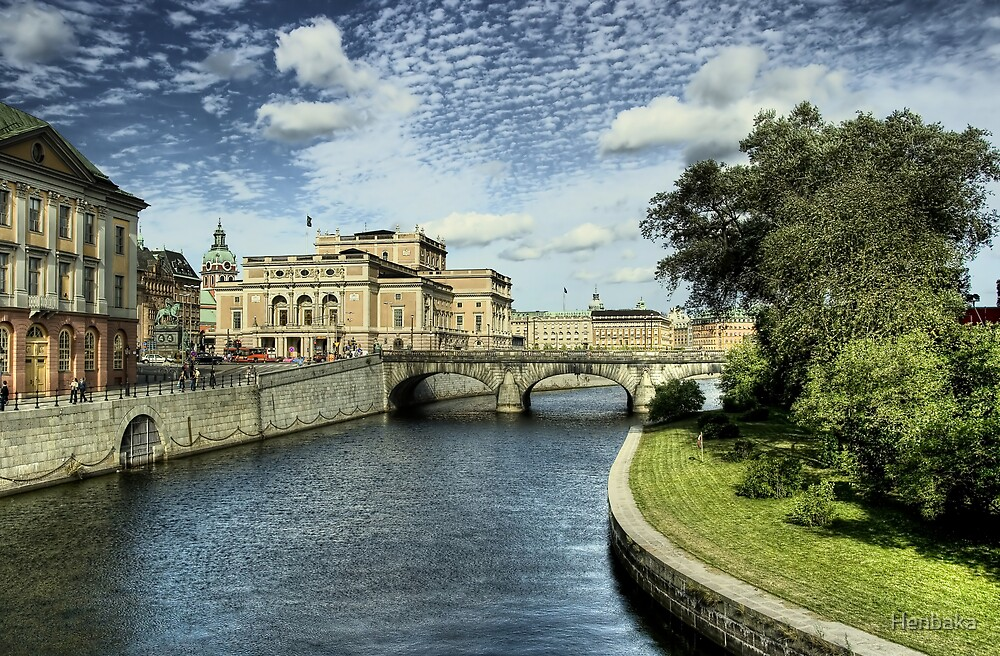 Stockholm in color by Henbaka