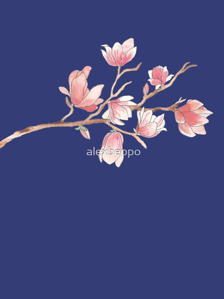 Watercolour Magnolia by alexbeppo
