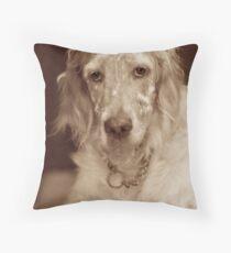 English Setter Sepia Throw Pillow