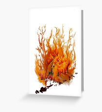 flame Greeting Card