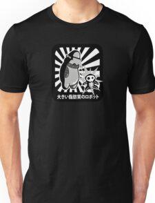 Robot with victim - noir style T-Shirt