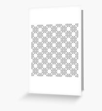 Kitchen cutlery outlined circles Greeting Card