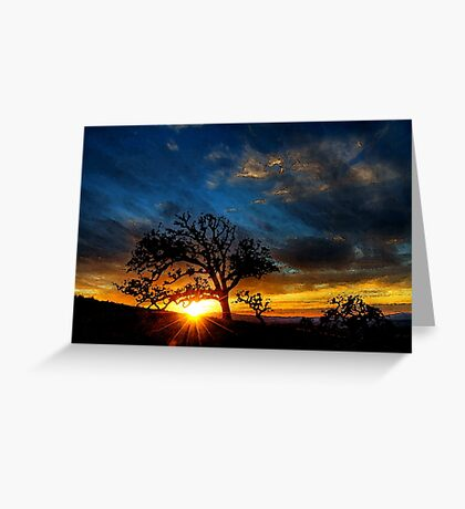 Image of a landscape of nature Greeting Card