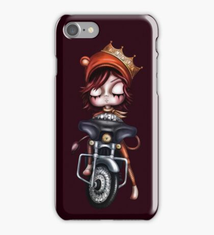 Biker Girl iPhone Case/Skin